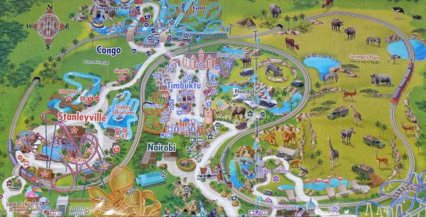 Theme Park Trains Busch Gardens Tampa - Bush gardens park map